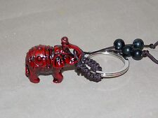 NEW LUCKY ELEPHANT FIGURE BEADED KEY CHAIN RING FENG SHUI GOOD FORTUNE LUCK
