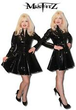 MISFITZ BLACK  PVC MISTRESS SKATER DRESS ALL SIZES  8 - 32 / MADE TO MEASURE