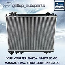 Radiator Ford Courier / Mazda Bravo 96-06 Manual 34mm thick core Heavy Duty