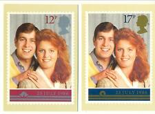 GB 1986 Andrew & Sarah Wedding Picture Cards. One postage for multiple buys.