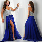 2016 Long Chiffon Formal Prom Dresses Party Ball Evening Pageant Wedding Gown