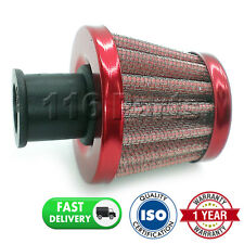 CAR MOTORCYCLE QUAD BIKE 18MM RED CONE CRANK CASE ENGINE BREATHER FILTER