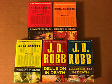 "Lot of 5 paperbacks by J. D. ROBB         ""IN DEATH"" SERIES"