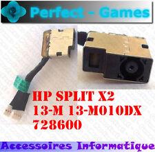 Connecteur alimentation DC power Jack cable HP SPLIT X2 13-M 13-M010DX 728600