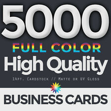 5000 Full Color  Business Cards Both Sides FREE DESIGN