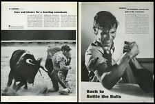 1967 Manuel Benitez El Cordobes matador bull fighting 5 photo print article