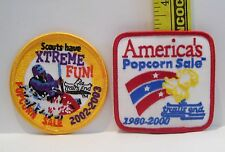 BOY SCOUTS PATCHES POPCORN SALE PATCH LOT OF 2 YEARS 1980-2000 AND 2002-2003