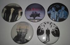 5 True Detective button Badges Cult Television Twin Peaks style horror