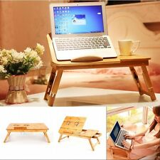 Folding Portable Flower Bamboo Laptop Notebook Computer Desk Bed Tray Table LS