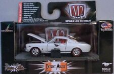 M2 MACHINES 1:64 SCALE DIECAST METAL PEARL WHITE 1966 FORD MUSTANG 2+2 FASTBACK
