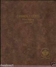 "Unimaster Coin Album #154 - ""Canada 5 Cents 1858-1921""  5¢ Silver Money Storage"