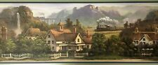 1 Roll of Waverly Blue House Painting Wallpaper Border Prepasted #5506860 Run 1