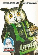 X1579 Zaini Scuola INVICTA - Pubblicità del 1991 - Vintage advertising