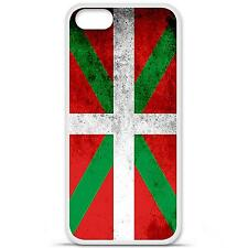Coque housse étui tpu gel motif drapeau Basque Iphone 5 / 5S