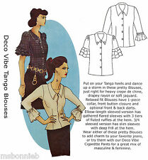 Deco Vibe Tango Blouse w/Ruffled Sleeves - Hot Patterns Sewing Pattern size 6-26