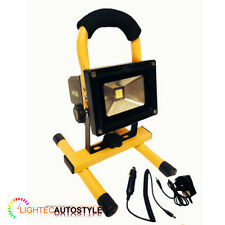 10W PORTABLE HIGH POWER WHITE LED WORK LIGHT RECHARGEABLE FLOOD LIGHT CAMPING