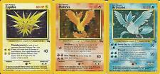 Pokemon TCG Assortment of cards. Zapdos Moltres Articuno Fossil set NM/M
