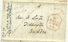 * 1840 PART LETTER H/S MISSENT TO NORTHAMPTON & N CODE = TO LONDON BY RAIL