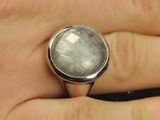 Meteorite ROUND ring silver.925 muonionalusta US 7 - 10.03g #RING879