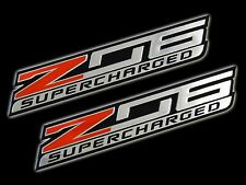 CHEVROLET CHEVY CORVETTE Z06 BLOWN SUPERCHARGED ENGINE EMBLEMS BADGES QTY 2 NEW