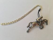 A29 Showjumper Pattern bookmark with cord 3D English pewter charm