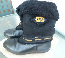 Tecnica Leather Winter Snow Boots Womens Black Size 8 , 38? Ships Free