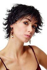 Perruque Pour Femme WIG Cheveux courts wilde Mèches noir aspect mouillé DW140-2