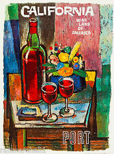 Wine Land California Port Country United States Travel Advertisement Art Poster