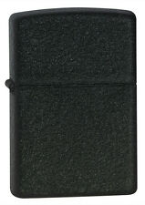 Zippo Windproof Lighter, Black Crackle, 236, New In Box