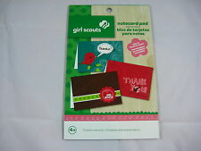 Colorbok Girl Scouts Notecard Pad - 10 Blank Notecards