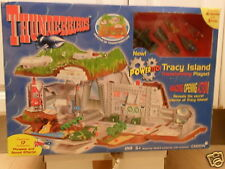 RARE OLD SEALED AUTO TRANSFORMING TRACY ISLAND + THUNDERBIRD 1 2 3 4 + EXTRA POD