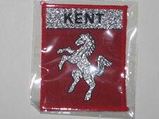 KENT INVICTA CLOTH BADGE IN RED*STITCH SEW ON RED *CLASSIC BADGE BY SAMPSON*NEW*