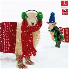 Pack of 5 Festive Sheep Children With Cancer Charity Christmas Cards Xmas Packs