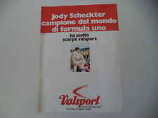 advertising Pubblicità 1980 VALSPORT e JODY SCHECKTER