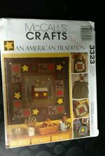 McCALL PATTERN 3323 quilt WALLHANGING-PILLOWS-APRON-PLACEMATS-tote