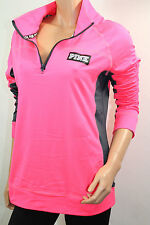 VICTORIA'S SECRET Pink Graphic Ultimate Half Zip Sweater Color Pink Small NWT