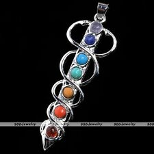 Metal Holy Sword Gemstone Chakra Energy Bead Healing Point Pendant For Necklace