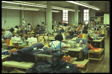 489036 Long Shot Of Garment Factory A4 Photo Print
