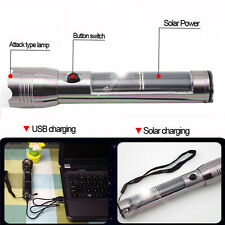 Solar Energy LED USB Charger Flashlight Outdoor Camping Survival Light Torch