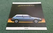 1988 TOYOTA COROLLA FX / FX16 / FX16 GT-S LIFTBACK - LARGE USA 8 PAGE BROCHURE