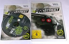 "Nintendo WII Gioco ""Need for Speed Pro Street"" COMPLETO"