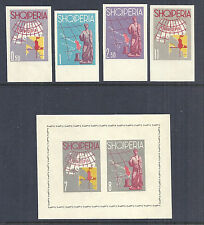 1962 Albania Tourist Propaganda & Map of Europe - 630-633 Imperf + Sheet MNH*