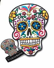 Dia de los Muertos (Day of the Dead) Candy Mask Embroidered Patch + Badge (C4)