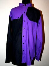 Men's Western Shirt MED Koda Sunset Purple Black Button Up Rodeo Shirt MINT