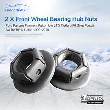 Front Wheel Bearing Hub Nuts Ford Falcon Fairmont Fairlane LTD BA BF AU ABS Pair