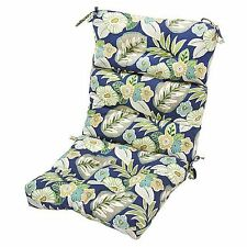 2 High Back Chair Seat Cushions Outdoor Patio Garden Furniture Indoor Pillow Pad