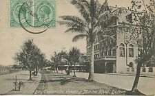 POSTCARD BRITISH COLONIES SOUTH AFRICA BAY ESPLANADE SHOWING MARINE HOTEL DUBLIN