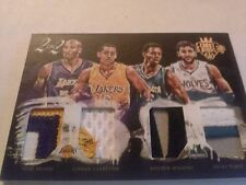 Kobe/Clarkson/Wiggins/Rubio 2015-16 Court Kings 2 on 2 Quad Patch /25 Lakers