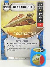 Star Wars Destiny - 1x #038 Delta-7 Interceptor + Dice - B - Spirit PREORDER