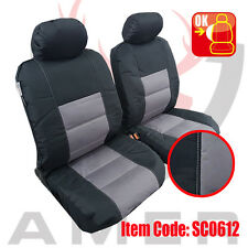Pair New Canvas Seat cover For Toyota Hilux Dual Cab 2005-2017 Free Shipping AU